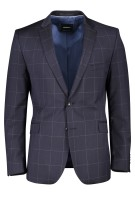 Colbert Strellson Mix & Match navy Geruit Slim fit
