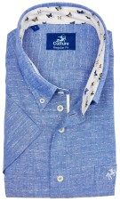 Culture casual shirt korte mouw  blauw