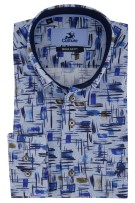 Culture overhemd blauw dessin Regular Fit