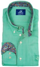 Culture overhemd groen button down met borstzak
