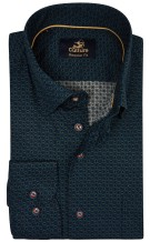 Culture regular fit shirt blauw motief