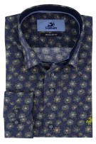 Culture shirt donkerblauw geprint Regular Fit