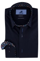 Culture shirt donkerblauw sleeve 7 Modern Fit
