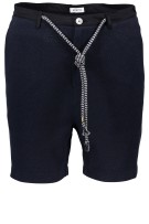 Distretto 12 Short Donkerblauw Effen Structuur Normale fit