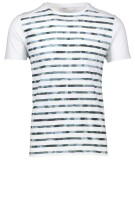 Distretto t shirt army streep wit  ronde hals
