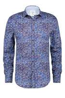 Donkerblauw geprint shirt A Fish Named Fred