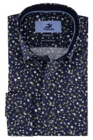 Donkerblauw shirt ml7 print Culture Modern Fit