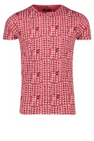 Dstrezzed T-shirt Rood Print Normale fit