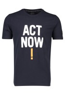 Ecoalf t-shirt donkerblauw Act Now