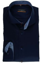 Eterna navy business overhemd slim  fit