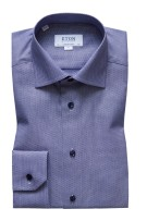 Eton overhemd Contemporary Fit donkerblauw
