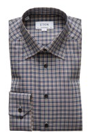 Eton overhemd Contemporary Fit navy ruit