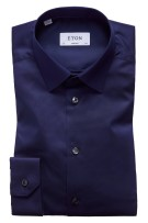 Eton overhemd donkerblauw stretch Super Slim