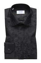 Eton Smoking Shirt Zwart Print Normale fit