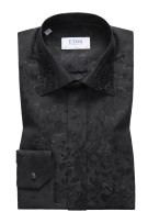 Eton Smoking Shirt Zwart Print Slim fit