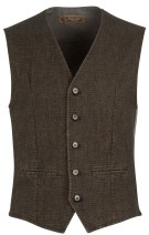 Four.ten Industry Gilet Bruin Effen Slim fit