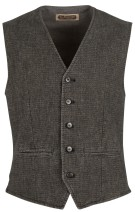 Four.ten Industry Gilet Grijs Effen Slim fit