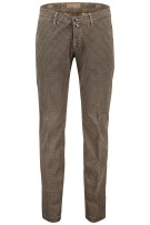Four.ten Industry Katoenen Broek Bruin Geruit Slim fit
