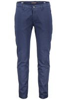 Four.ten Industry Katoenen Broek Donkerblauw Effen Slim fit
