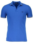 Fred Perry polo kobalt blauw Twin Tipped