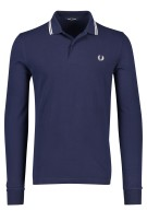 Fred Perry polo lange mouw donkerblauw