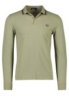 Fred Perry polo olijf zwart lange mouw