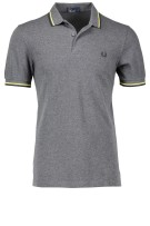 Fred Perry Polo Shirt Grijs Effen Normale fit
