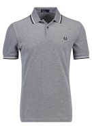 Fred Perry Polo Shirt Grijs Structuur Normale fit
