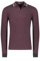 Fred Perry Trui Bordeaux Effen Slim fit