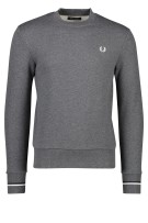 Fred Perry Trui Grijs Effen Slim fit