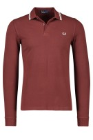 Fred Perry Trui Rood Effen Normale fit