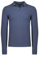 Fredd Perry polo Twin Tipped blauw lange mouw
