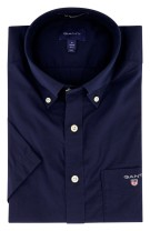 Gant overhemd korte mouw navy regular fit