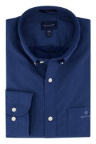 Gant overhemd Regular Fit stippen donkerblauw