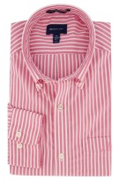 Gant overhemd Regular Fit strepen roze wit