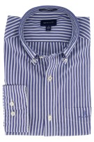 Gant overhemd strepen blauw Regular Fit