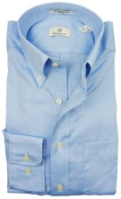 Gant Pinpoint Oxford shirt lichtblauw