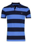 Gant Polo Shirt Blauw Gestreept Normale fit