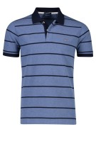Gant Polo Shirt Donkerblauw Blauw Gestreept Normale fit