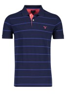 Gant Polo Shirt Donkerblauw Gestreept Normale fit