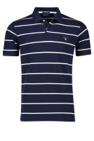 Gant Polo Shirt Donkerblauw Wit Gestreept Normale fit