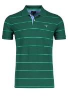 Gant Polo Shirt Groen Gestreept Normale fit