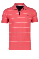 Gant Polo Shirt Rood Gestreept Normale fit