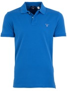 Gant regular fit polo blauw piqué