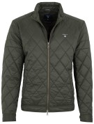 Gant the quilted windcheater jas groen