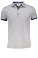 Gentiluomo Polo Shirt Grijs Print Slim fit
