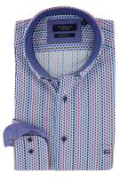 Geprint overhemd Giordano Regular Fit blauw