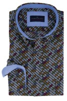 Geprint overhemd Portofino Casual Fit multicolor