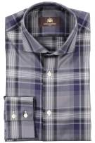 Geruit Circle of Gentlemen shirt zwart donkerblauw