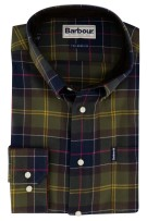 Geruit shirt olijfgroen Barbour Tailored Fit